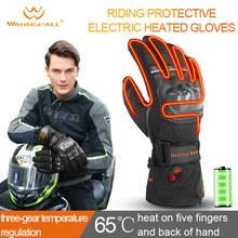 Warmspace Motorcycle Gloves Heated 7.4V Battery Cycling Skiing Winter Waterproof Sports Electric Heating Gloves Warm Therma