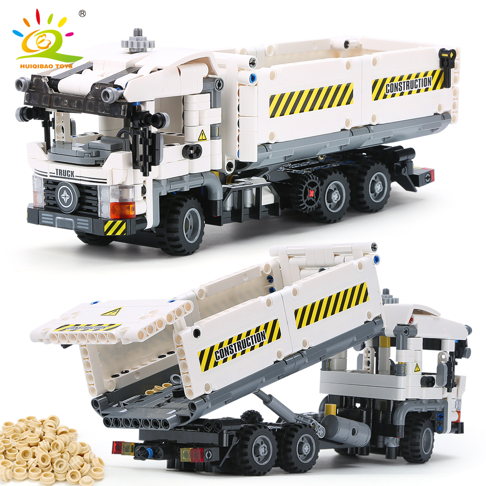 799pcs Technic Engineering Truck Building Blocks Compatible Legoingly Vehicle Car Bricks Educational DIY Toys For Children Boys