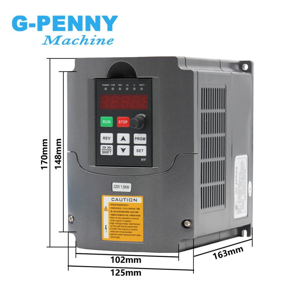 Silnik wrzeciona CNC kontrola prędkości 220v 380v 1.5kw VFD napęd o zmiennej częstotliwości falownik 1HP lub 3HP wejście 3HP wyjście dla sterownik cnc