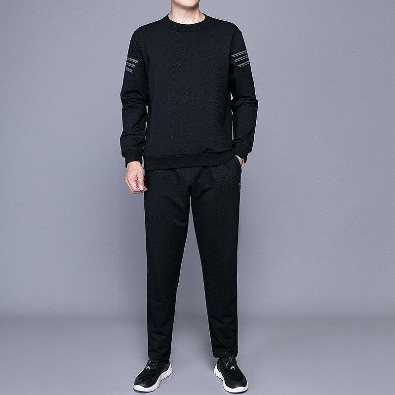 Autumn New Style Korean-style Hoodie Coat Leisure Sports Suit Young MEN'S Trend Two-Piece Set Men'S Wear