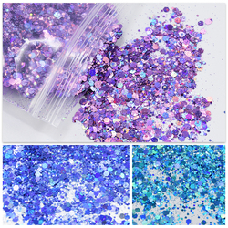 200g/bag Mix Size Nail Art Glitters Sequins Red /Pink /Purple/Red Nail Tip Dust Powder Manicure For Nail Art Decorations Glitte