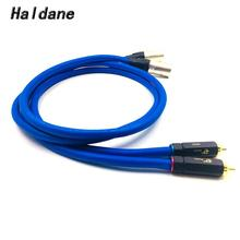Haldane Pair BR-109 RCA to XLR Male to Male Balacned Audio Interconnect Cable XLR to RCA Cable with CARDAS Clear-Light-USA haldane pair wbt 0144 rca to xlr male to male balacned audio interconnect cable xlr to rca cable with cardas clear light usa