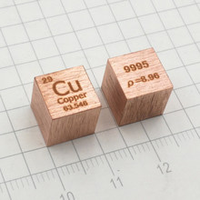 1pc 99.95% Pure Cu Cube High Purity 8.9g Cu Metal Carved Element Periodic Table Craft Wonderful Collection Decoration 10*10*10mm