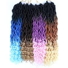 Aigemei Synthetic Goddess Faux Locs Crochet Braided Hair Cur