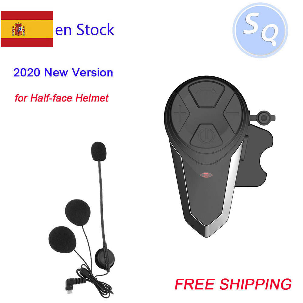 1 шт., Bluetooth, для шлема, домофон, водонепроницаемый, IPX7, BT 3,0, с FM! Bluetooth-гарнитура для мотоциклетного шлема, Интерком на 1000 м, для шлема, с функцие...