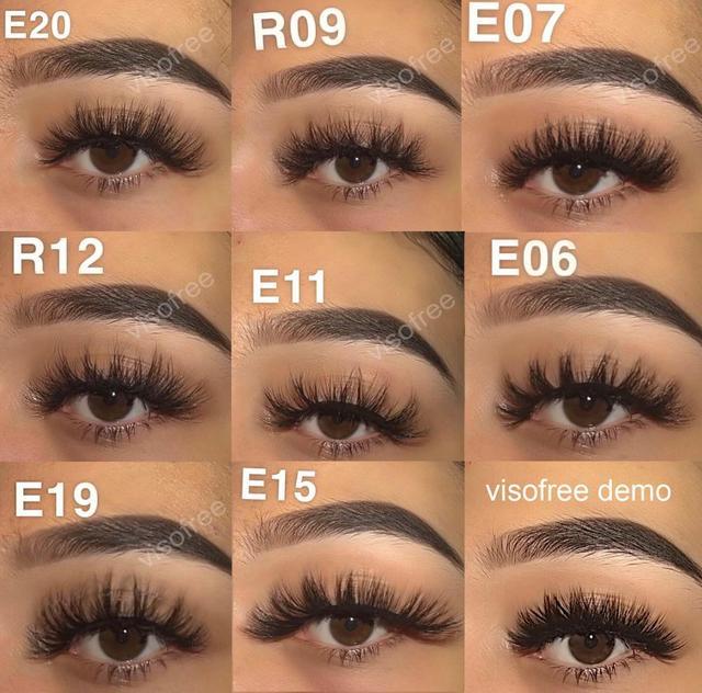 Visofree Mink Eyelashes Natural False Eyelashes Fake Eye Lashes Long Makeup 3D Mink Lashes Extension Eyelash Makeup for Beauty 5