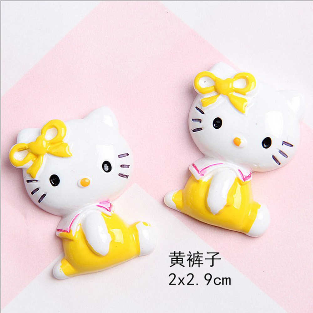 10 pçs/lote 20*29mm Resina 3d Dos Desenhos Animados do gato Japonês paisagem decoração Simulação DIY Artesanato Decoração