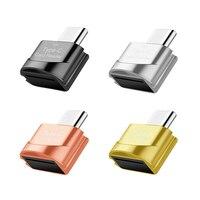 USB 3,1 tipo C a TF adaptador de lector de tarjetas OTG teléfono móvil lector de tarjeta de memoria USB de alta velocidad adaptador para PC portátil