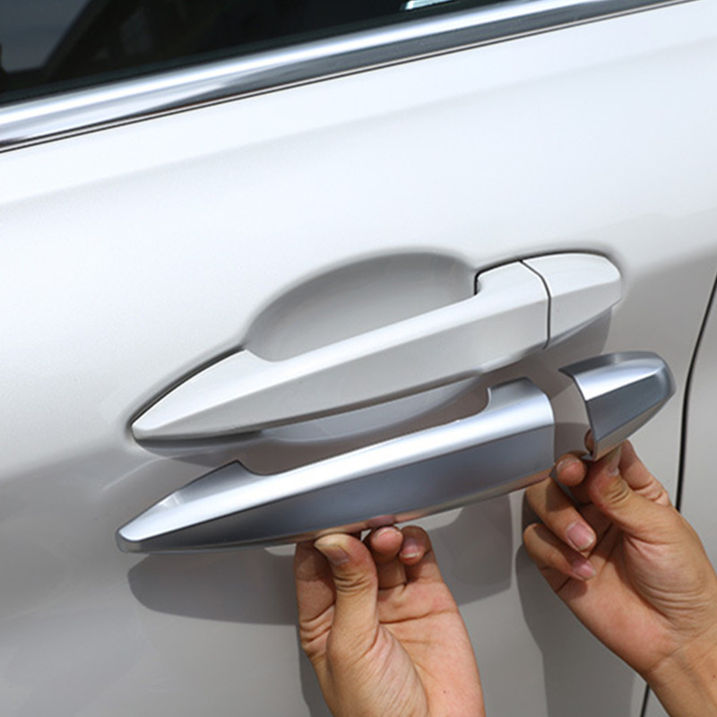 8pcs Stainless Steel Chrome Door Handle Cover Trim For X5 f15 2014-2017 Car Accessories