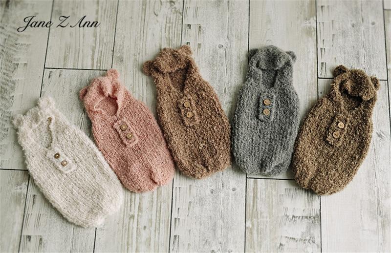 25.11US $ 10% OFF Baby bears sleeping bags handmad knitted Newborn photo shooting infant twins studi...