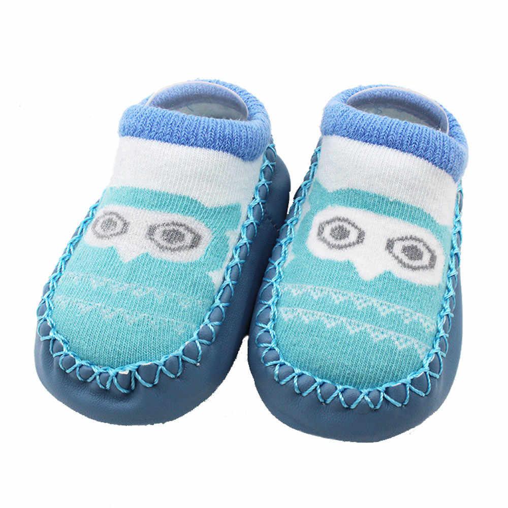 แฟชั่นรองเท้ากันลื่นเด็ก Booties รองเท้าแตะการ์ตูน BabyShoes หญิงรองเท้าทารกแรกเกิด WARM ถุงเท้าผ้าฝ้าย First Walkers