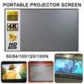 Светоотражающий экран для проектора, 60/84/100/120 дюймов 16:9, ткань для Xiaomi DLP YG300 T6 XGIMI H2 HALO Mogo