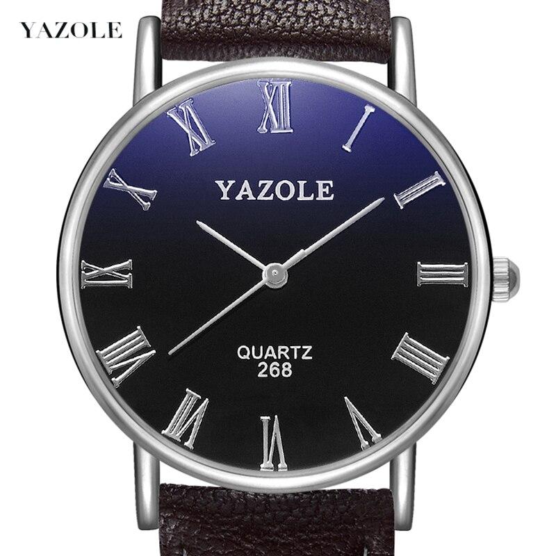 YAZOLE 2020 Hot Sell Fashion Leisure Business Men Wristwatch Quartz Movement Life Waterproof Roman Digital Dial Couple Watch 268