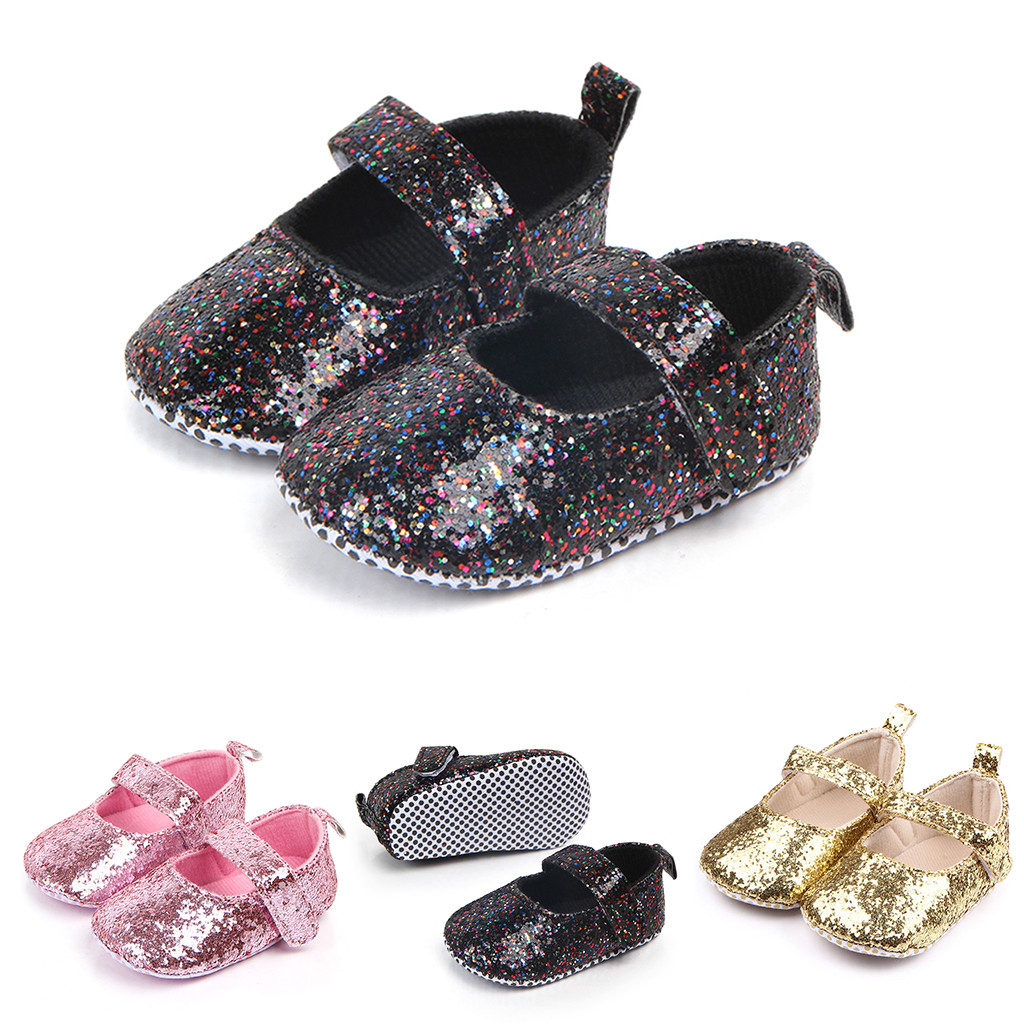 Newborn Baby Boots Girls Boys Summer First Walkers Black Pink Gold Soft Soled Non-slip Crib Shoes Booties Baby Summer Shoes(China)