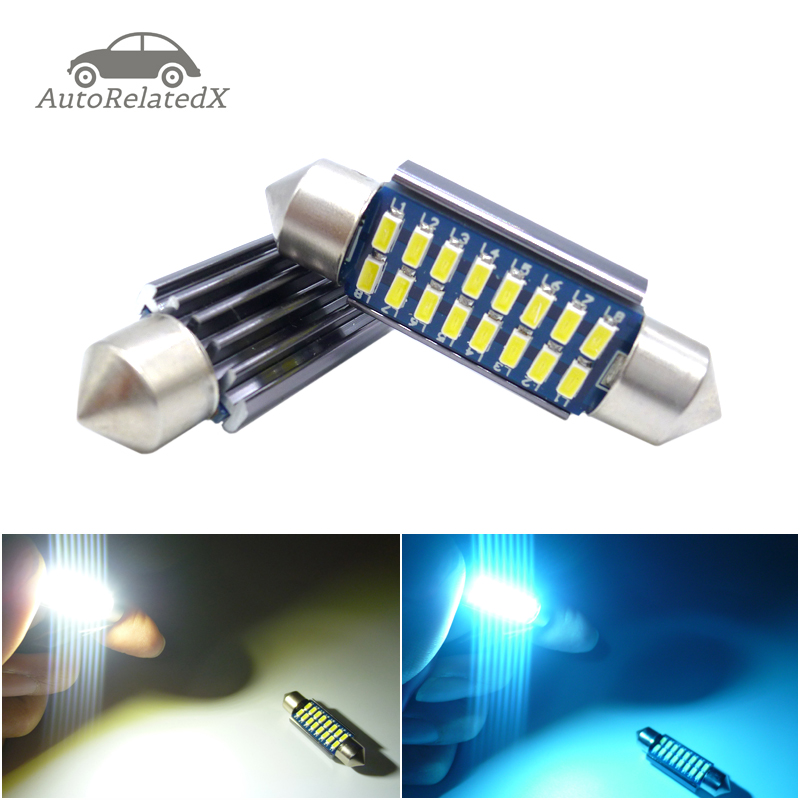 2x Canbus <font><b>Led</b></font> Festoon 28mm 31mm 36mm 39mm <font><b>42mm</b></font> SV8,5 C10W C5W <font><b>Led</b></font> Lamp Lighting Car Dome <font><b>Bulb</b></font> License Plate Light 12V white image
