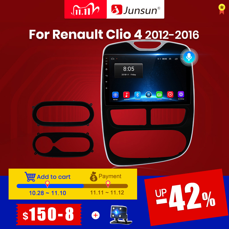 Junsun v1 android 10.0 dsp carplay rádio do carro multimídia vídeo player auto estéreo gps para renault clio 4 2012 - 2016 2 din dvd