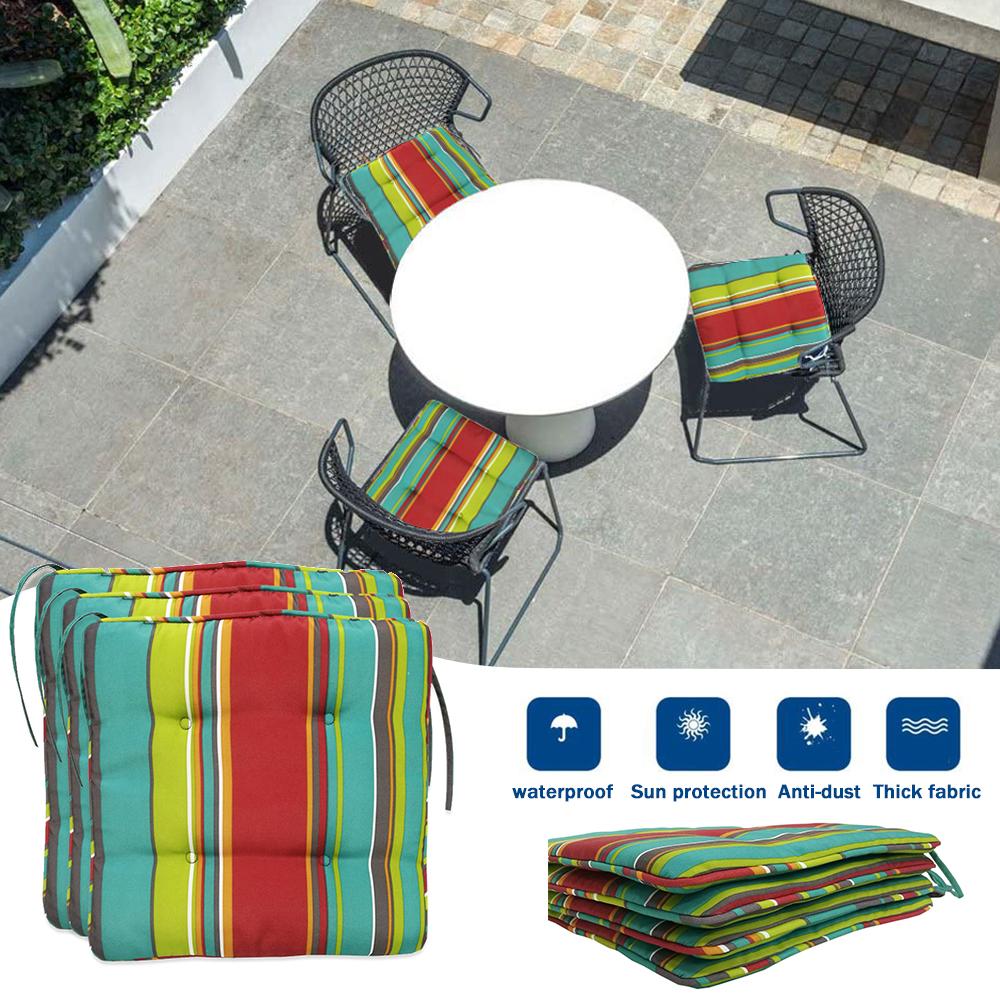 Outdoor Waterproof Stripe Non-slip Seat Cushion