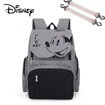 Disney Pre-design Cartoon Baby Diaper Bag Waterproof Baby Bag Organizer Nappy Maternity Bag For Stroller Mom Travel Free Hooks - 1