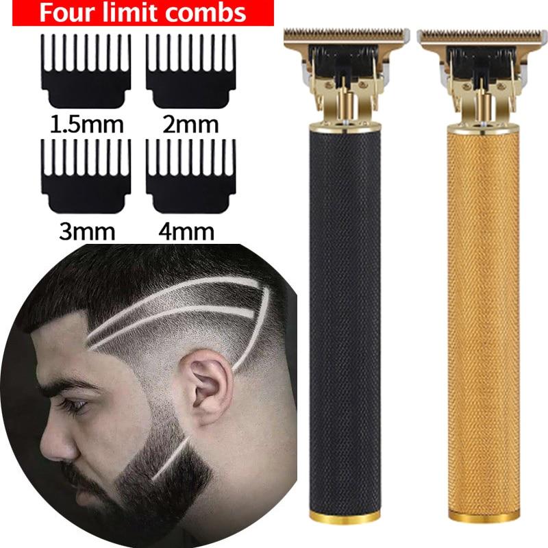 Перезаряжаемая машинка для стрижки волос T9, профессиональная электрическая Беспроводная Бритва, триммер для мужчин, Парикмахерская Машинк...