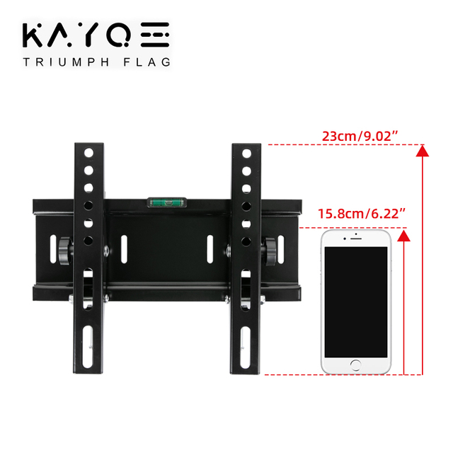 Universal 25KG Adjustable Tilt TV Wall Mount Bracket Flat Panel TV Frame Support 15 Tilt for 14-32 Inch LCD LED Monitor 55lbs 2