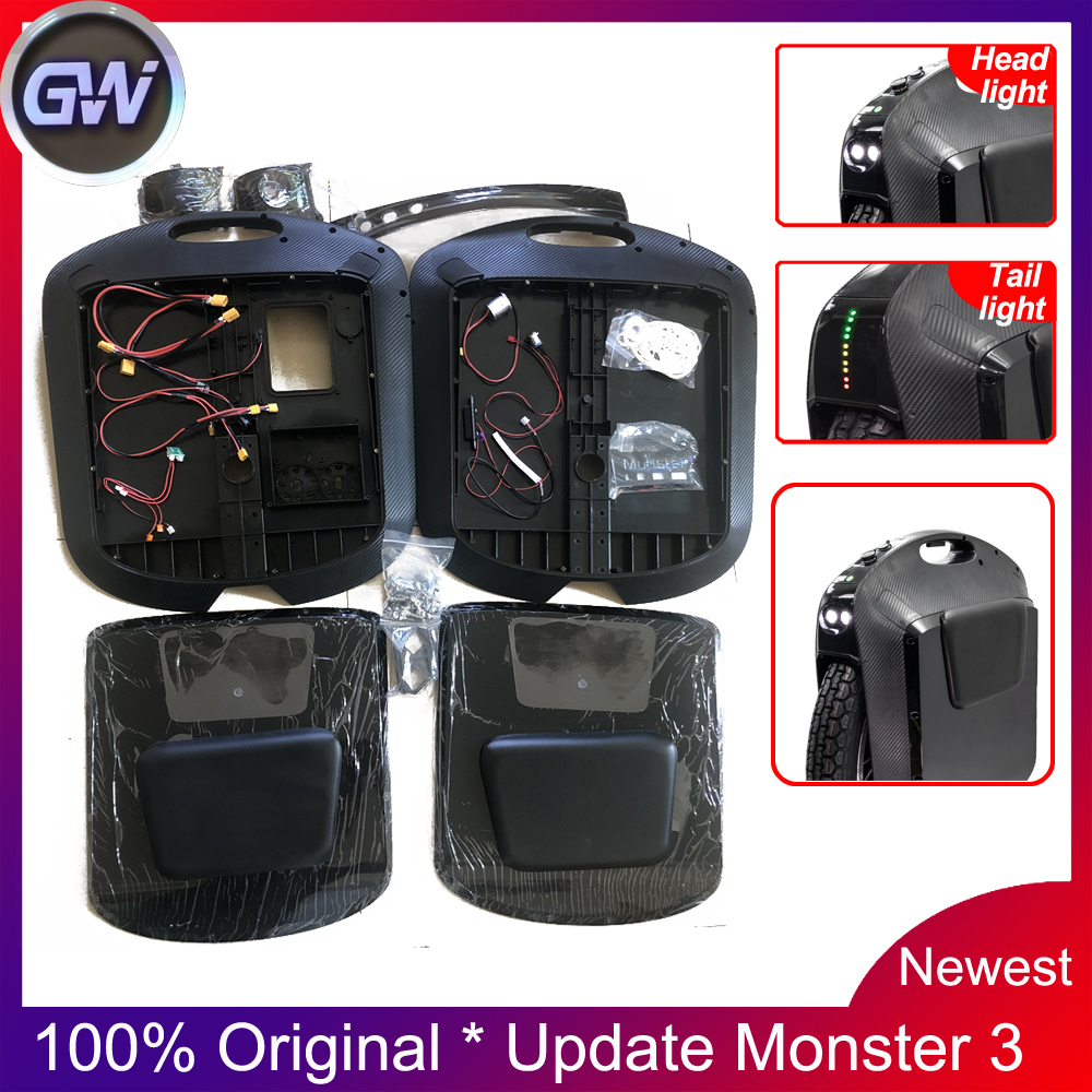 Original Gotway Monster 22'' Black Shell Carbon Update Monster 2 To Monster 3 Electric Unicycle Accessories Add Speaker
