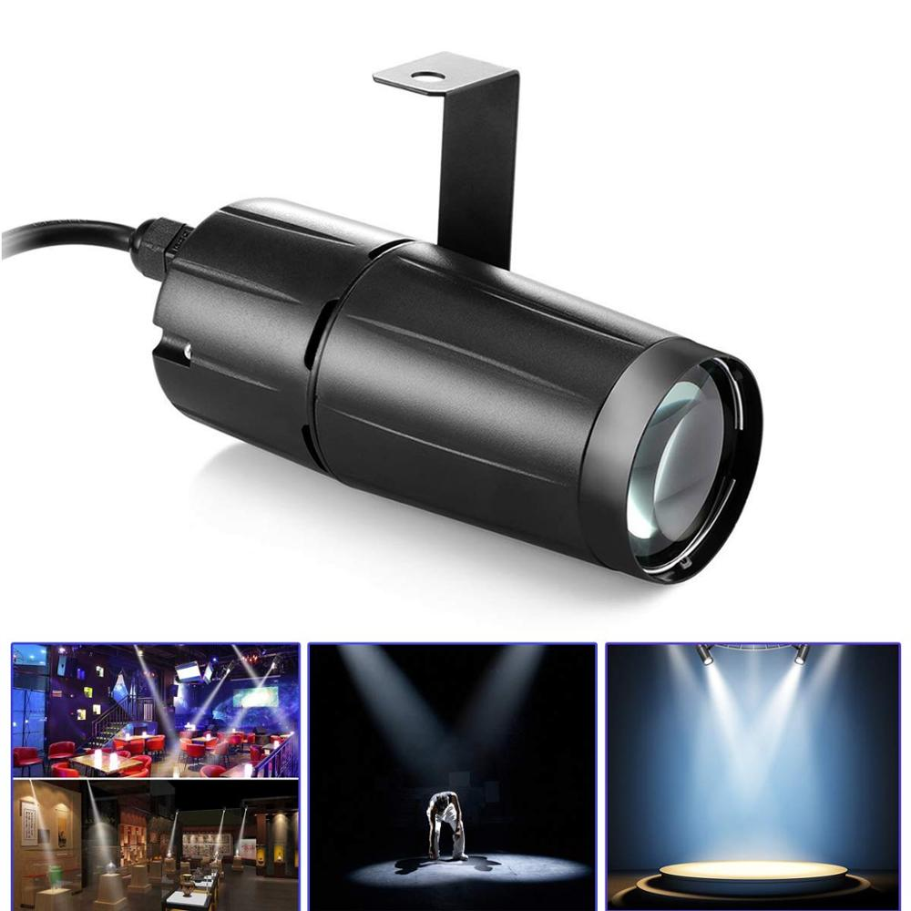 3W LED Stage Spotlight Disco DJ LED Beam Pinspot Light MiNi Stage Lighting Effect Lamp For KTV Party Club Outdoor Wedding Show