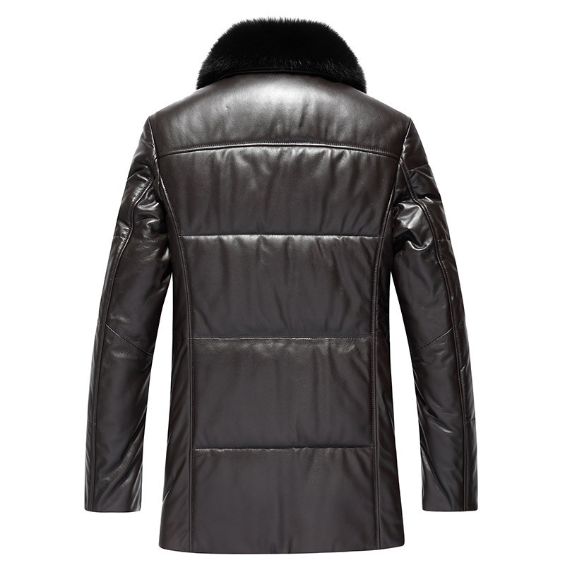 Genuine Leather Jacket Men Winter Down Jacket Men Sheepskin Coat Mink Fur Collar Chaqueta Cuero Hombre 81S18001 YY264