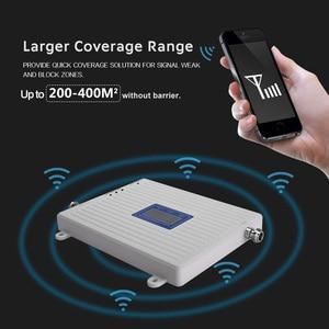 Image 5 - 2g 3g 4g tekrarlayıcı 900 1800 2100 üçlü bant tekrarlayıcı gsm 900 dcs 1800 wcdma 2100 cep telefonu sinyal güçlendirici hücresel amfi