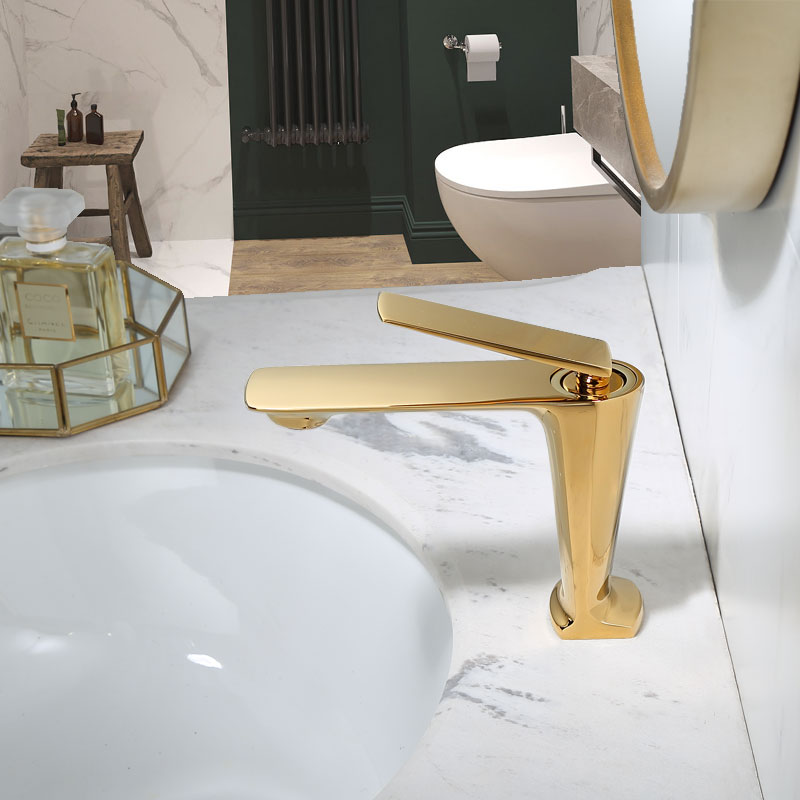 Bathroom Faucet Gold Basin Faucet Cold And Hot Water Mixer Sink Faucet Tap Single Handle Deck Mounted Black/Rose Gold Tap
