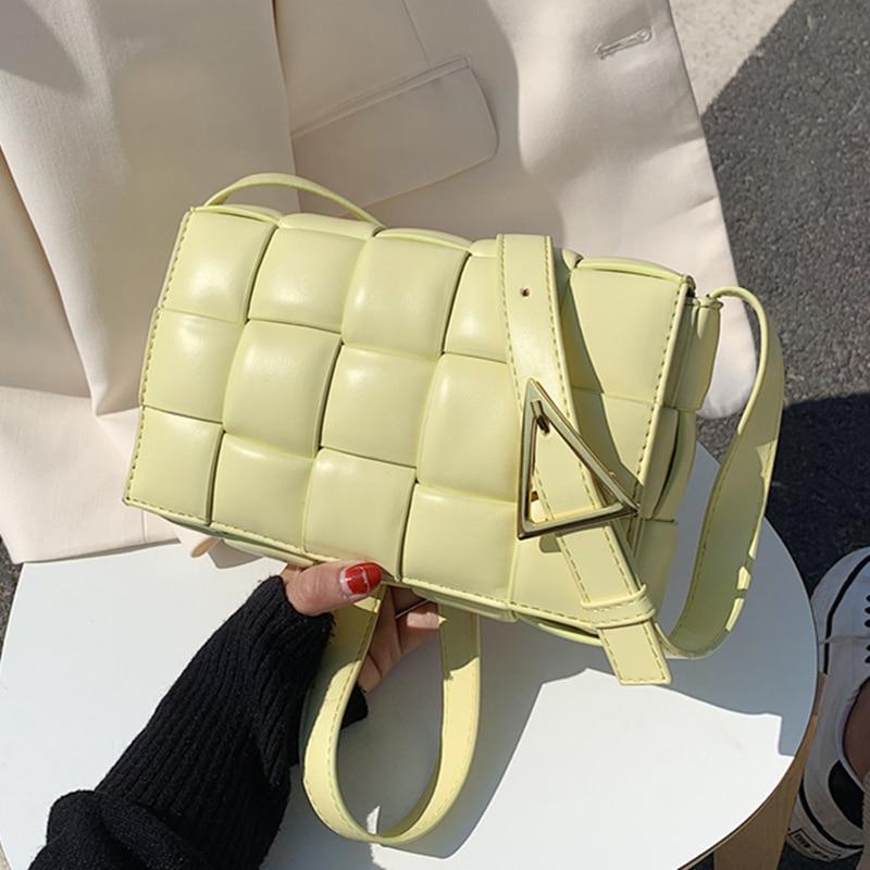 Маленькая плетеная Сумка с клапаном для женщин 2020 Новая высококачественная модная сумка через плечо из искусственной кожи женские Сумки sac a main femme|Сумки с ручками|   | АлиЭкспресс