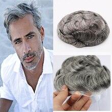 Парик с Remy человеческие волосы 0,04-0,05 мм парик из тонкой кожи мужские волосы части замена волос