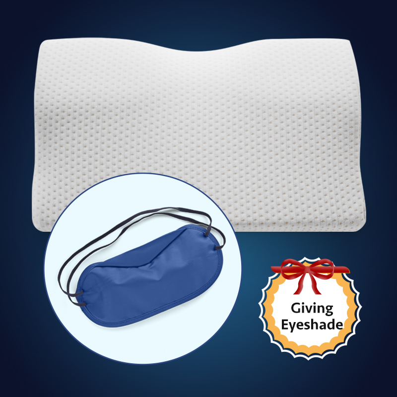 Memory Foam Bed Orthopedic Pillow Neck Protection Slow Rebound Memory Pillow Butterfly Shaped Health Cervical Neck Size 60/50 cm 6