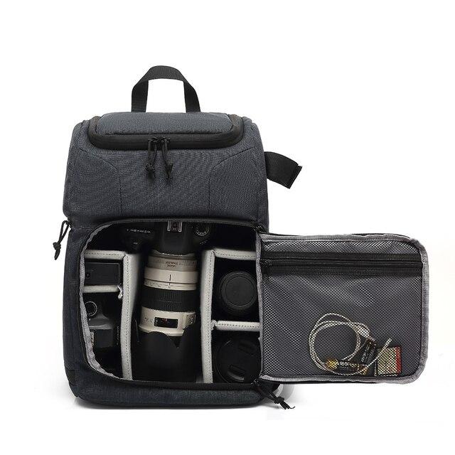 Multi Functionalกระเป๋ากล้องกันน้ำกล้องกระเป๋าเป้สะพายหลังแบบพกพากลางแจ้งถ่ายภาพกระเป๋ากล้องสำหรับCanon Nikon DSLR