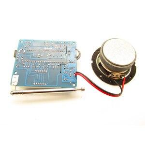 Image 3 - Практичный FM радиоприемник, набор электроники, подарок, 4,5 5,5 В, цифровой мини прозрачный 8 Ом звук «сделай сам», паяльный стерео домашний приемник