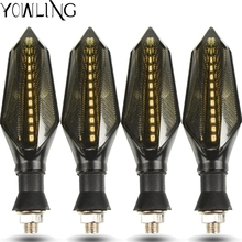 Motorcycle Turn Signal Lights Triangle LED Sequential Turn Signals Indicators For kawasaki er6n z650 ninja 300 versys 650 Z900