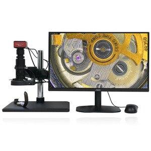 Image 2 - Full HD SONY capteur 2K 1080P HDMI vidéo Microscope électronique caméra de mesure Zoom continu c mount lentille métal PCB Inspection