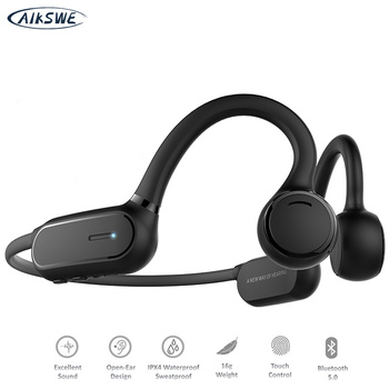 AIKSWE Bluetooth Headphone Open Ear Wireless Sports headset Touch Control Earphones Stereo HD Hands-free For Cycling Running