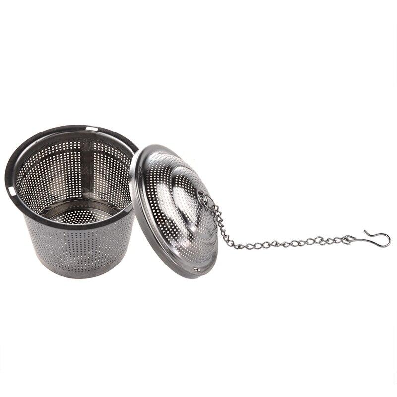 Practical Tea Ball Strainer Mesh Infuser Filter Stainless Steel New