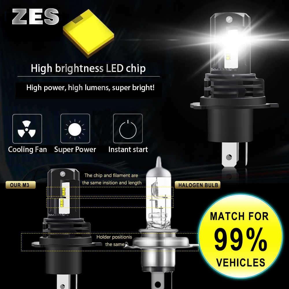 /HL 2 قطعة صغيرة مرحبا لو شعاع H4 Led H7 H11 Led لمبة 9005 HB3 سيارة المصابيح الأمامية H8 Led مصباح H1 9006 HB4 12000LM الضباب أضواء 6500K 12 فولت