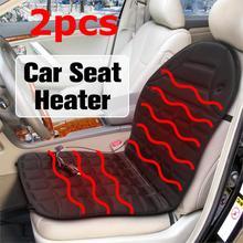 12v samochód Auto przednie siedzenie podgrzewana pokrywa podgrzewacz samochodowy poduszka regulator temperatury ocieplacz na zimę podkładka samochodowa