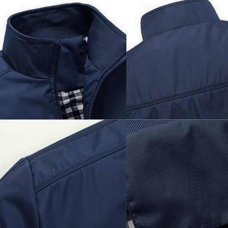 2020 Mannen Winter Lente Dunne Jassen Windbreaker Uitloper Solid Casual Rits Jas Streetwear Jassen Mannelijke Oversize Overjassen