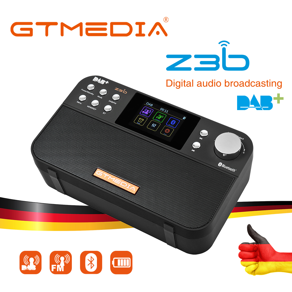GTMEDIA Z3B Portable Radio FM DAB stereo/ RDS Multi Band Radio <font><b>Speaker</b></font> with LCD Display Alarm Clock Support Micro SD TF Card image