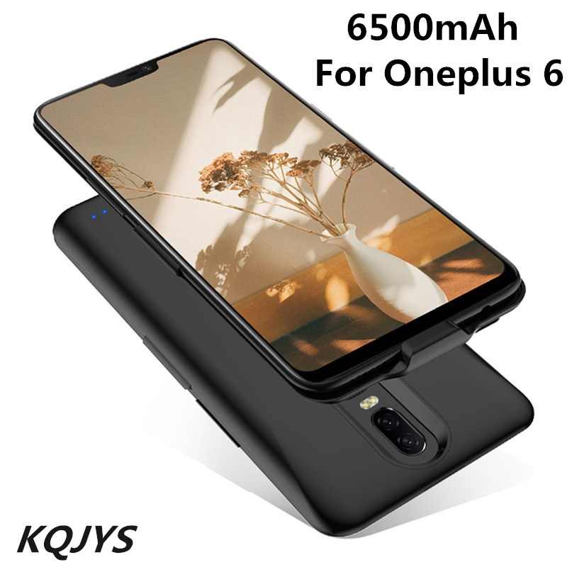 KQJYS 6500mAh For Oneplus 6 External Battery Charger Case Power Bank Portable Supply Shockproof Charging Cover For Oneplus 6