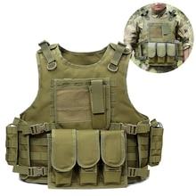 Vest Tactical-Vest Military-Gear Load-Carrier Molle Adjustable Outdoor Hiking Hunting