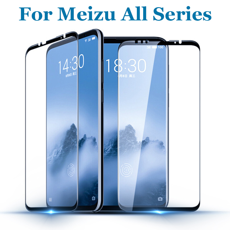 For <font><b>Meizu</b></font> <font><b>16</b></font> th M6S MX6 M5S <font><b>Pro</b></font> 7 6 Plus protective glass Full Cover Tempered Glass For <font><b>Meizu</b></font> U10 M5 Note Screen Protector Film image