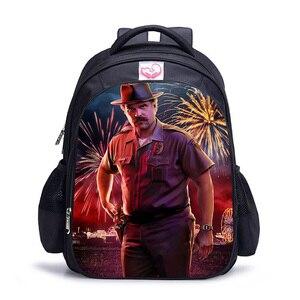 Sac Dos Kpop 3D печать книжная сумка 16 дюймов странные вещи рюкзаки для школы подростков девочек путешествия застегивающиеся на молнию школьные сумки рюкзак