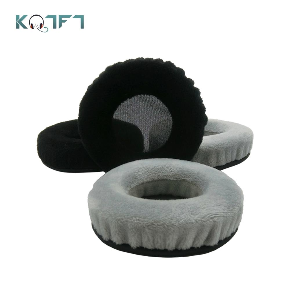KQTFT 1 Pair of Velvet Replacement Ear Pads for <font><b>Philips</b></font> SHL5010 SHL5011 SHL <font><b>5010</b></font> 5011 Headset EarPads Earmuff Cover Cushion Cups image