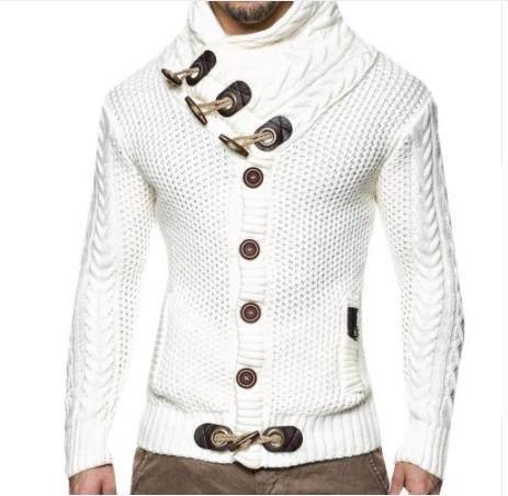 US $32.68 40% OFF Mens Sweater Coat 2018 Fashion Korean Menswear Winter Sweater Men Cardigan Long Hooded Knitting Patterns Mens Sweater Jacket Man   