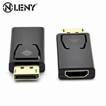 цена на Onleny Mini Display Port Male To Male HDMI Converter 1080P DP To HDMI Adapter Gold-plated Plug ABS Shell Support Hot Plug
