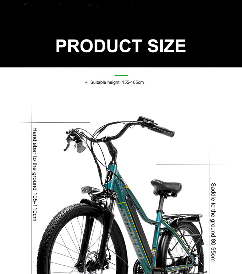 Discount 26inch Electric mountain bike 36V lithium battery travel electric bicycle lighweight Ebike 19